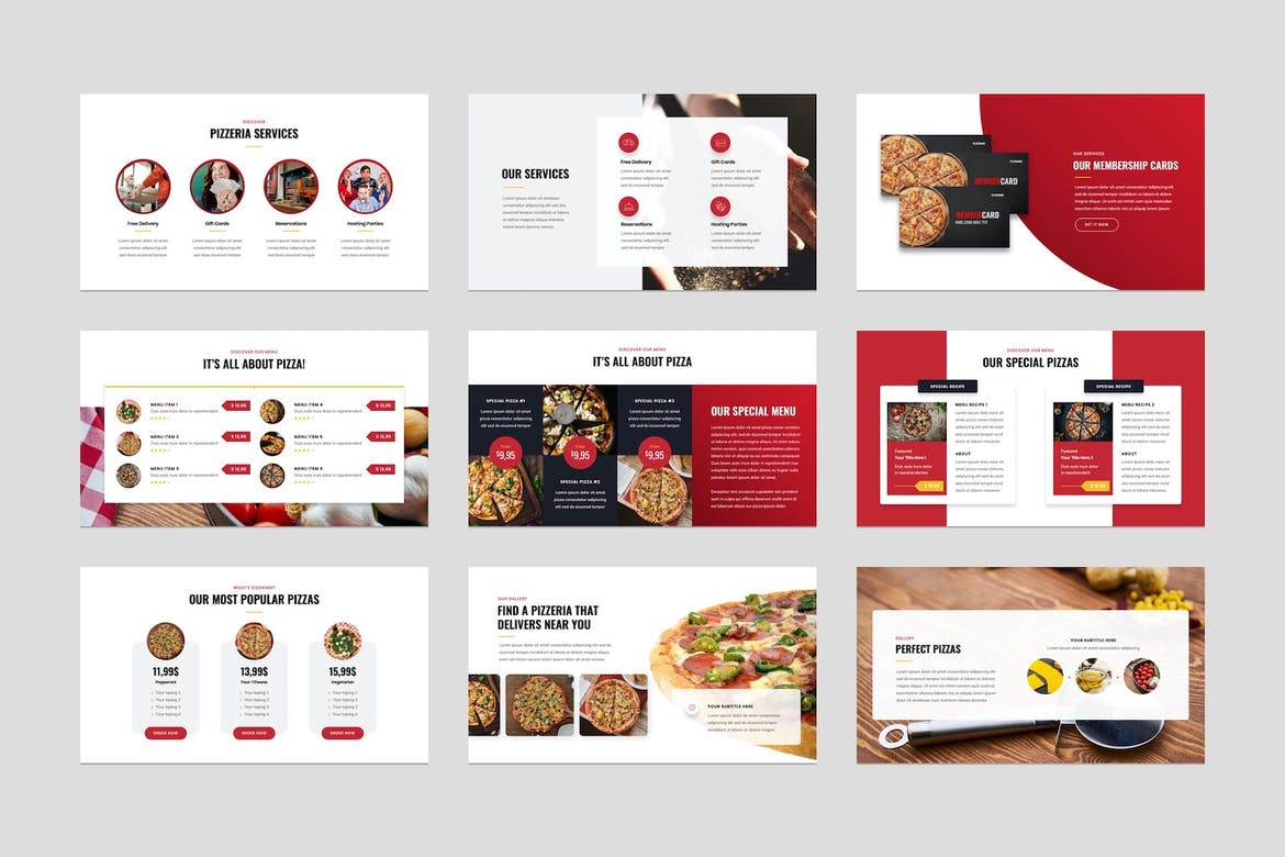 Pizza and Fast Food Keynote Presentation Template