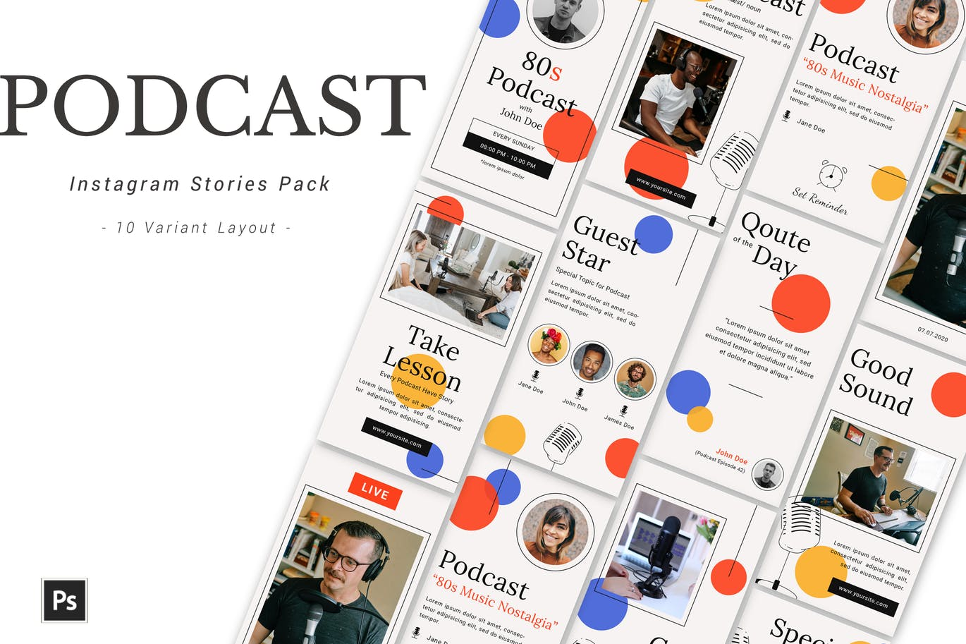 Podcast - Instagram Template Pack