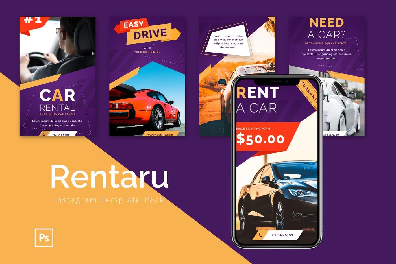 Rentaru - Instagram Template Pack