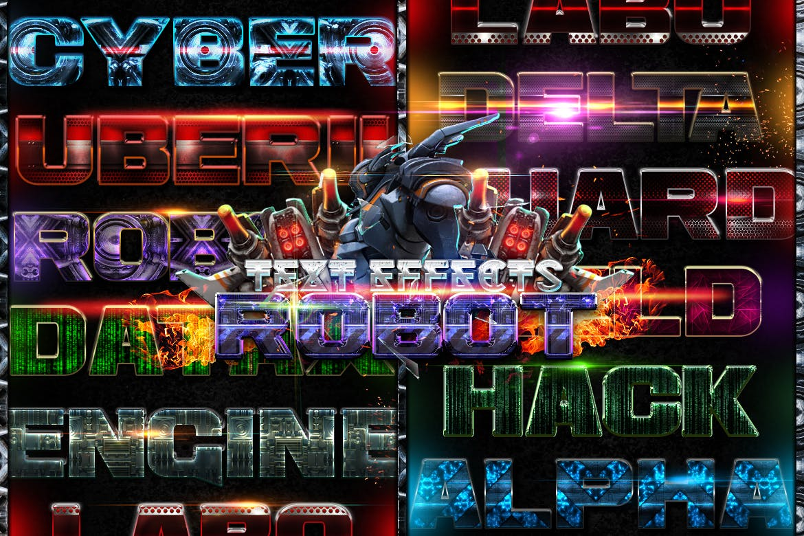 Robot Photoshop Text Effects