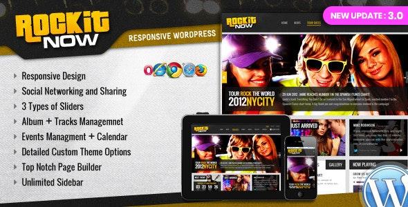 Rockit Now - Music Band WordPress Theme