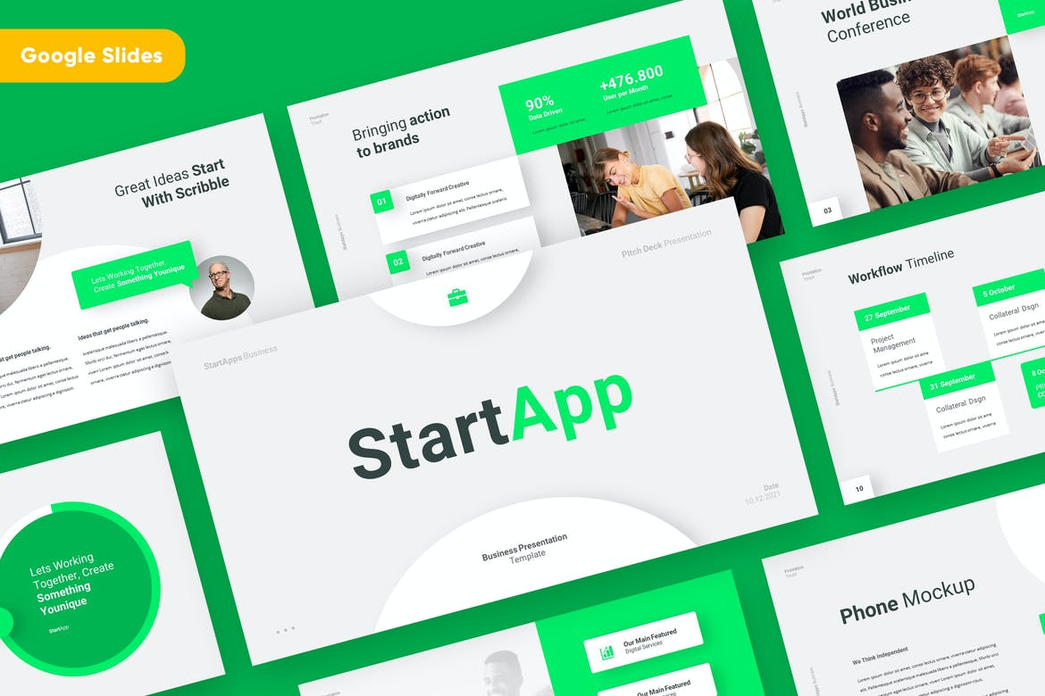 STARTAPP - Business Startup Google Slides Template