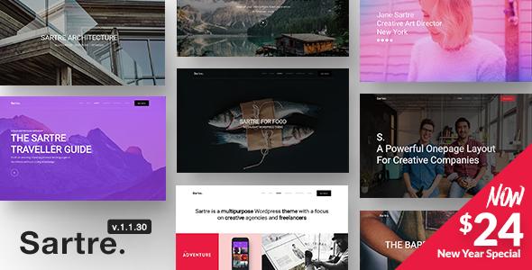 Sartre v1.1.32 - Multipurpose WordPress Theme for Creative Sites