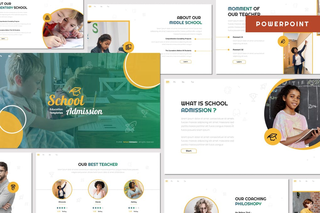 School Admission - Education Powerpoint Template