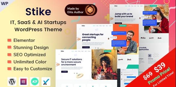 Stike - Elementor IT Startups WordPress Theme