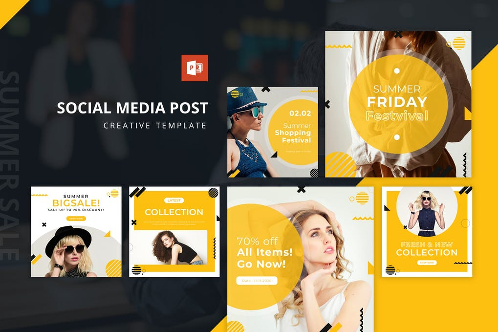Summer Sale Instagram Feed Powerpoint Template