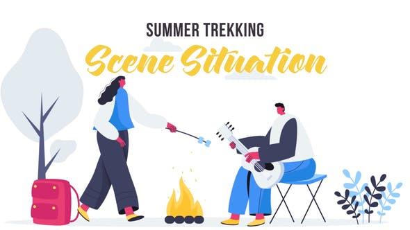 Summer trekking - Scene Situation