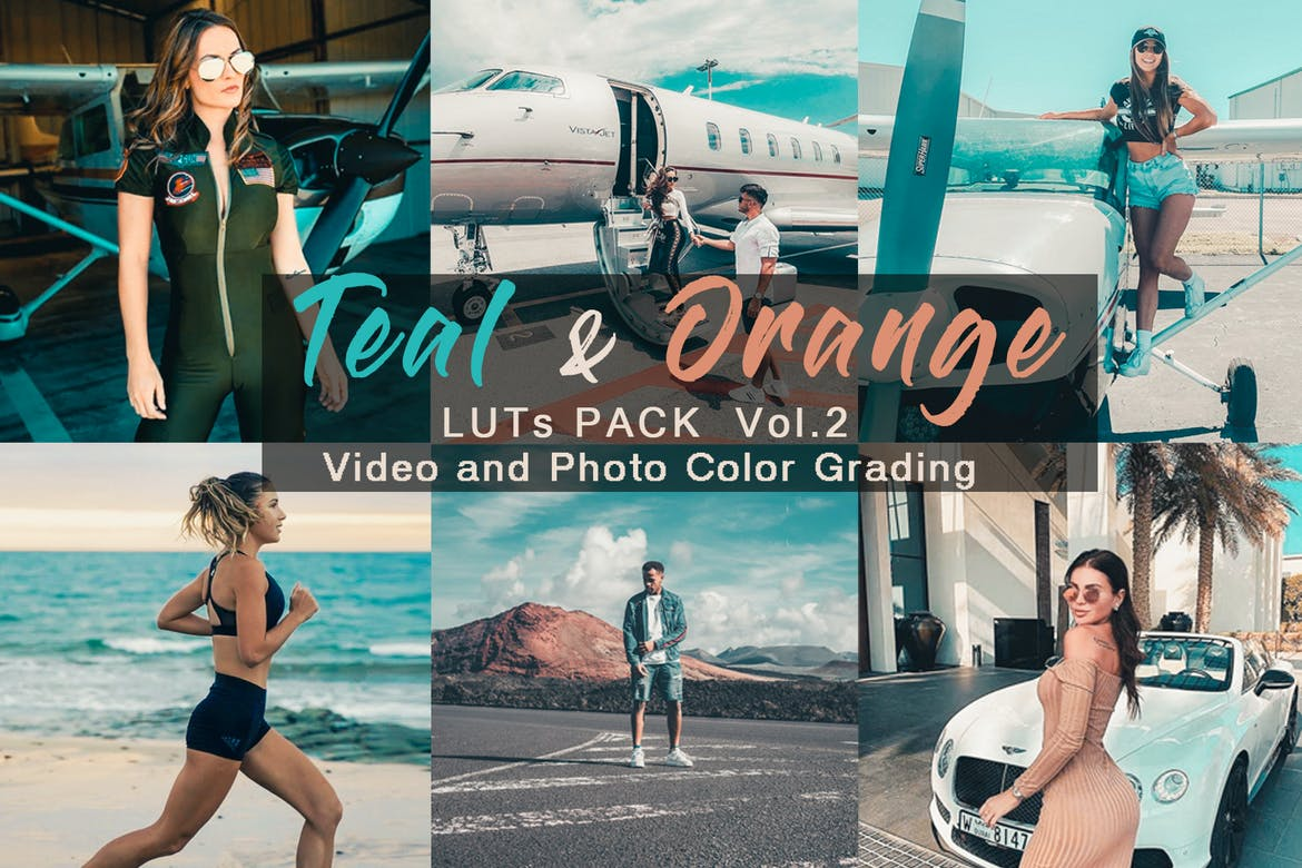 TEAL & ORANGE - LUTs Pack Vol.2