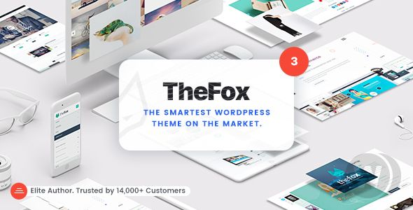 TheFox v3.9.8.9 NULLED - Universal WordPress Template
