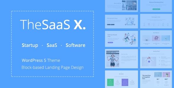 TheSaaS X - Responsive SaaS, Startup & Business WordPress Theme