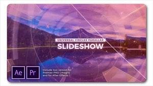 Universal Circles Parallax Slideshow