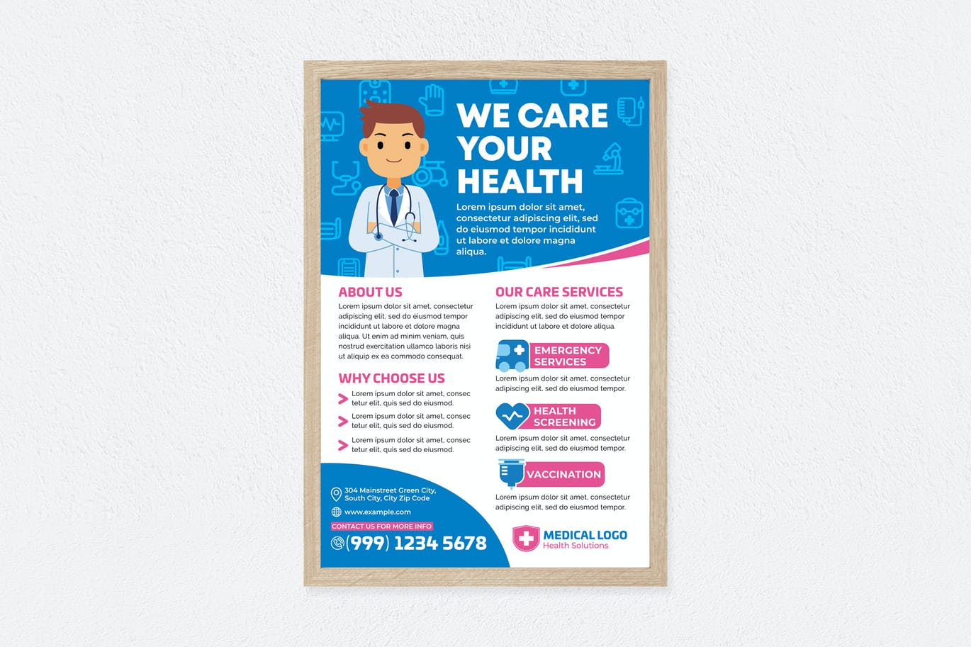 We Care Your Health Poster
