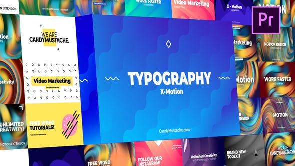 X-Motion Typography - Premiere Pro