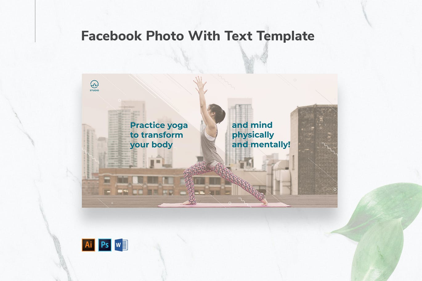 Yoga Instructor Facebook Photo With Text