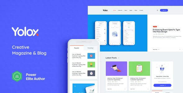 Yolox v1.0.3 NULLED - modern WordPress blog theme for businesses and startups