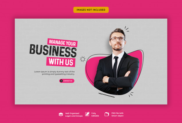 Business promotion and corporate web banner template Premium Psd