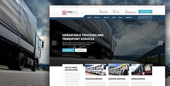 CargoPress v1.12.4 NULLED - Trucking WordPress Website Template