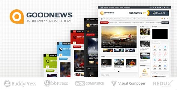 Goodnews – Responsive WordPress News-Magazine