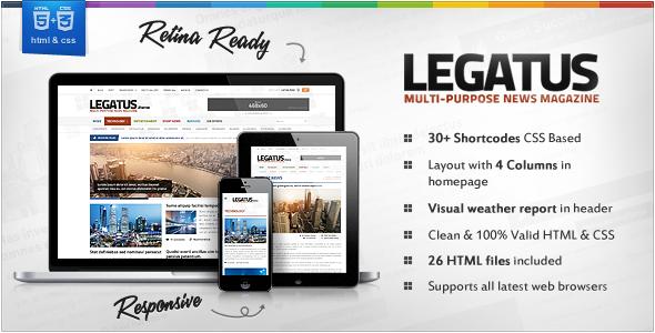 Legatus v2.3 - News WP Template