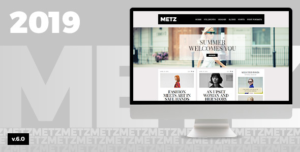 Metz v6.3.3 - template for a news site about fashion WordPress