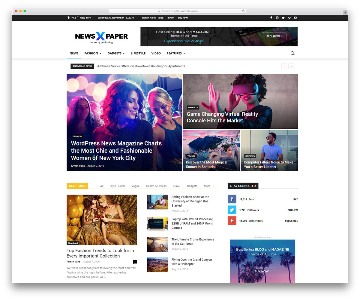 Multinews - Magazine WordPress Theme