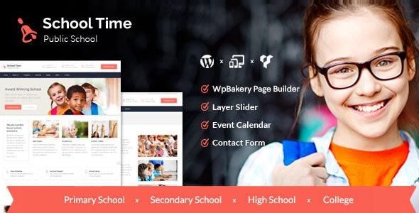School Time - Modern Education WordPress Theme