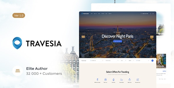 Travesia - A Travel Agency and Booking WordPress Theme