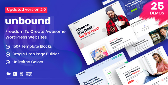 Unbound v2.1.0 NULLED - business template for WordPress