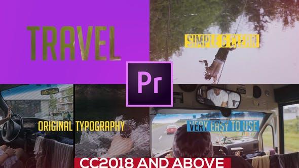 Colorful Travel Opener -Typography Slideshow