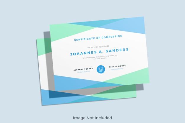 Elegant certificate mockup