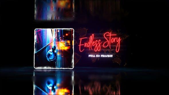 Endless Story Stylish Slideshow - Youtube Travel Blog- Digital Slide- Bright Presentation- Art Promo