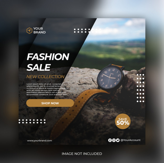 Fashion sale banner post template