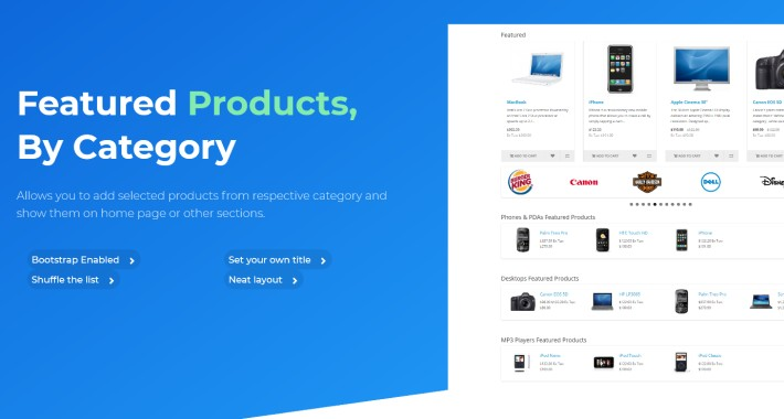 Product Categories OpenCart