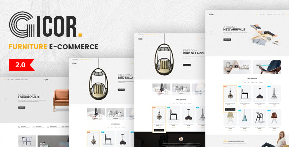 Gicor - OpenCart 3 online furniture store template
