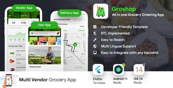 GroShop v1.0.0 - Grocery Flutter application