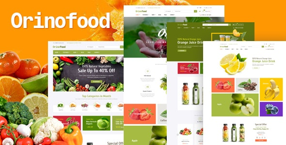 Orinofood v1.0 - OpenCart 3 healthy food store