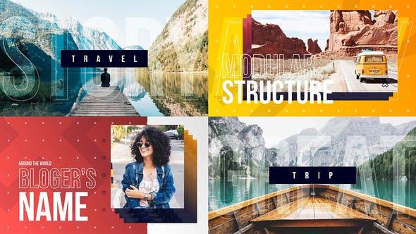 Vlog Intro - Youtube Channel - Travel Blog Opener - Dynamic Typography