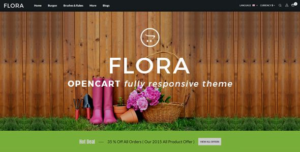 WOOX - responsive template for Opencart 2.3