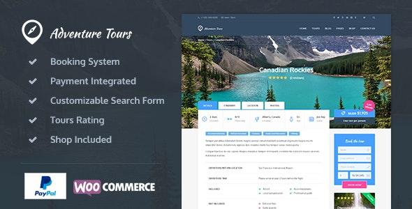 Adventure Tours - WordPress Tour-Travel Theme