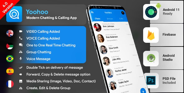 Android Chatting App with Voice - Video Calls, Voice messages + Groups -Firebase
