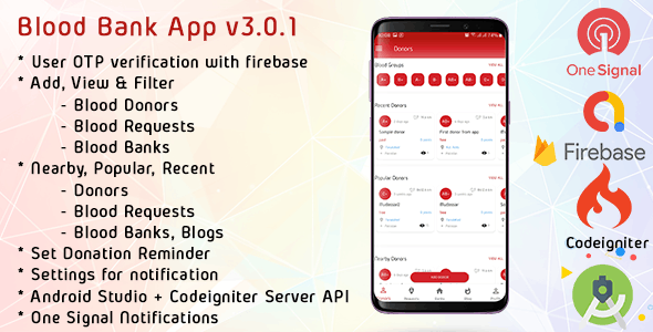 Android blood bank application