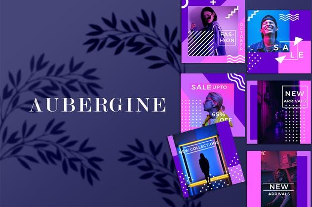 Aubergine - Instagram Fashion Feed Ads Template