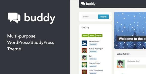 Buddy- Simple WordPress & BuddyPress Theme