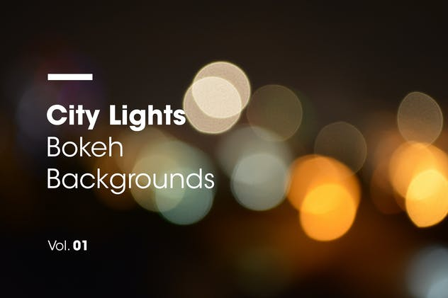 City Lights - Bokeh Backgrounds - Vol. 01