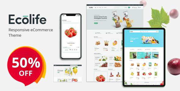 Ecolife - Organic WooCommerce WordPress Theme