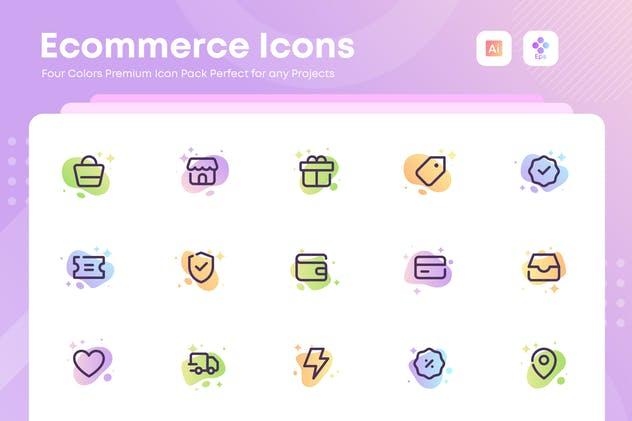 Ecommerce, Online Shopping, marketing icons Set
