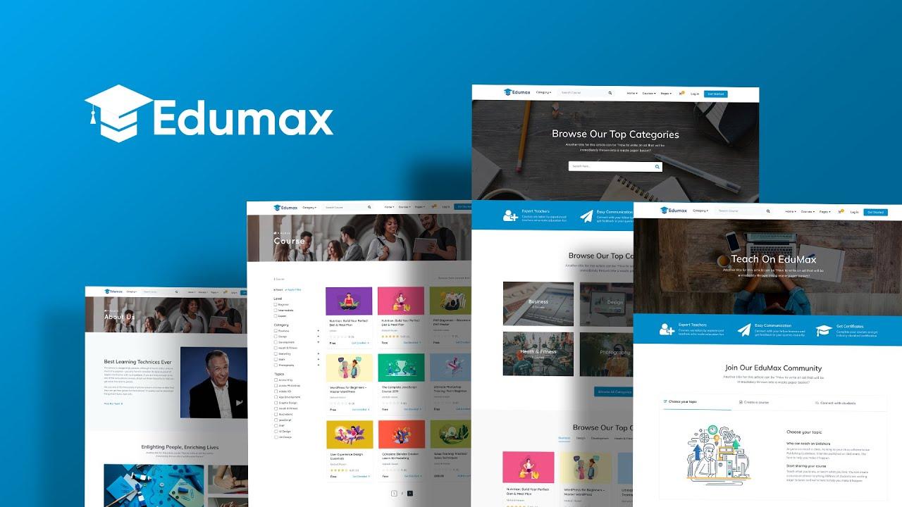 Edumax 2.0.4 - Online Course Portal WordPress Theme