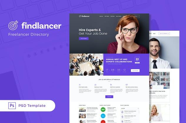 Findlancer - Freelancer Directory PSD Template