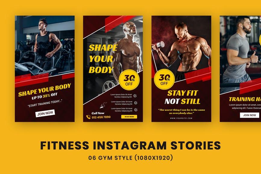 Fitness Instagram Stories Template