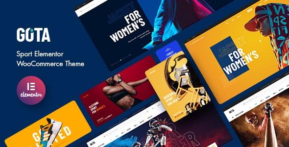 Gota - Sport Elementor WooCommerce Theme